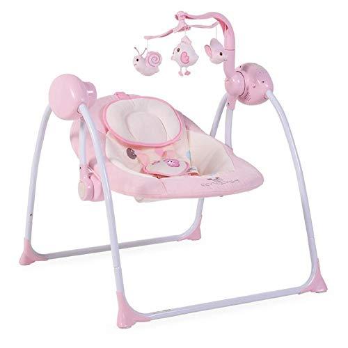 Babywippe Swing+ mit Musikfunktion, regulierbare Lautstärke, Zeitschaltuhr (Rosa)