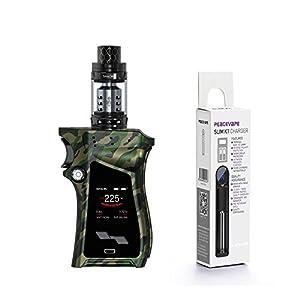 E-Zigarette Smok Mag Kit mit TFV12 Prince Tank 225 W 2mL (Grüne Tarnung) mit Peacevape TM 18650 Ladegerät