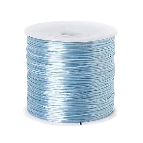 50m/Rouleau 0,5mm coloré extensible élastique Cristal à cordes Corde Cordon pour la confection de bijoux perles Bracelet fil de pêche Fil corde turquoise