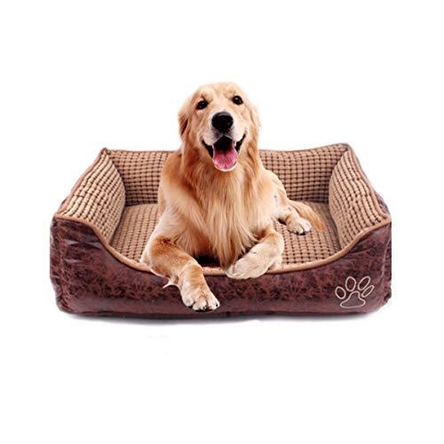 Niedliches Haustierheim, waschbarer Zwinger, kleiner und mittelgroßer Hund universal, Teddy-Zwinger, Golden Retriever-Hund, Hundewarmhund, Labrador, praktischer Zwinger großer Hahnentritt XL -