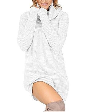 Coversolate Womens Casual Long Sleeve Jumper Turtleneck Suéteres Vestido