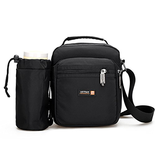 Outreo Borsa Tracolla Uomo Borsello Viaggio Borsa Vintage Messenger Bag  Borse a Spalla Sport Sacchetto Tablet 63760cbda09