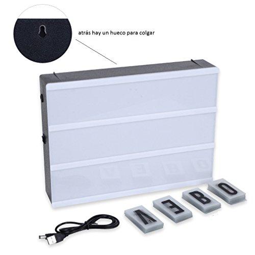 Lightbox LED con 90 Letras y Símbolos