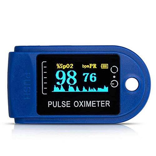 WANGXN Finger-Pulsoximeter Blutsauerstoffsättigungs-Monitor Mit LCD-Display,Blue