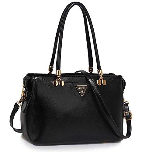 womens-handbags-ladies-designer-black-shoulder-bag-faux-leather-3-compartments-tote-new-celebrity-st