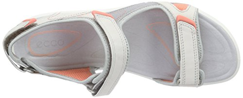 ECCO Cruise Ladies, Sandali Sportivi Donna Bianco (59553shadow White/silver Grey/coral)