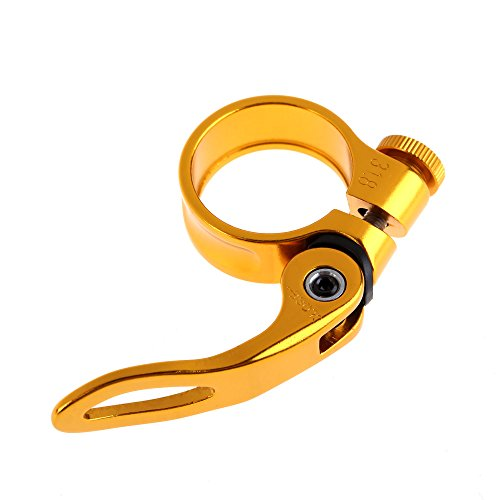 Everpert 31,8mm MTB Fahrrad Radfahren Sattel Sattelklemme Schnellspanner QR Stil Neu, gold