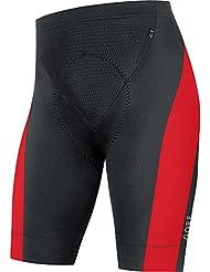 Gore Bike Wear Power 3.0 - Malla corta para hombre, color negro / rojo, talla XXL