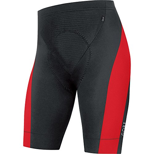 GORE BIKE WEAR, Men´s, Cycling short leggings, Padded, GORE Selected Fabrics, POWER, Size S, Black/Red, TTSPOW