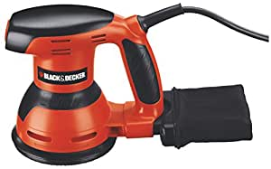 black decker ka198 ponceuse excentrique 125 mm 260 w bricolage. Black Bedroom Furniture Sets. Home Design Ideas