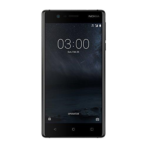 """Nokia 3 TA-1032 DS ES PT - Smartphone de 5.0""""(2 GB  RAM,Memoria interna 16 GB, microSD hasta 128 GB), negro"""