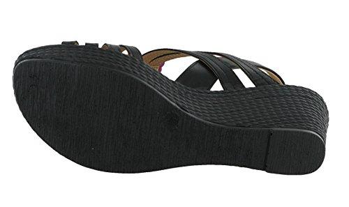 Cushion Walk , Sandales Compensées femme Noir