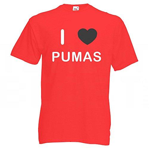 I Love Pumas - T-Shirt Rot