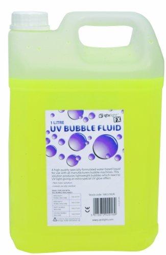BUBBLE FLUID, UV REACTIVE, 5L 160.577UK By QTX LIGHT by Qtx Qtx Light