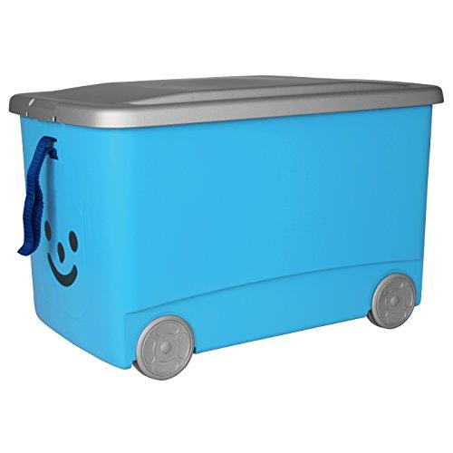 Iris Smiley-Caja con tapa, ruedas y banda, 31.5L) azul
