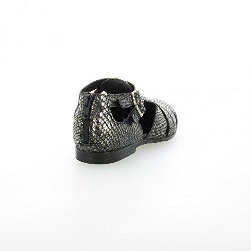 Pao Derby cuir python noir Noir