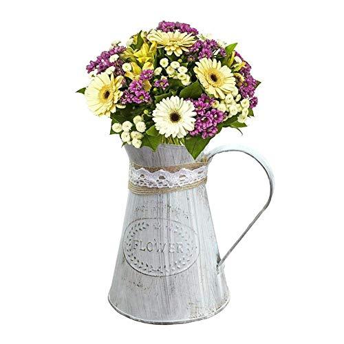 """WSJTT Vasen, 6,2\""""hoch verzinkte Vase, ideal für getrocknete Blumenarrangements, für Hochzeitsgeschenke, Wellness- und Aromatherapie-Anwendungen O3"""