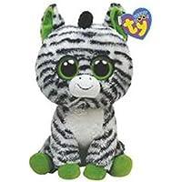 Ty 7136036 Beanie Boos - Zebra de peluche Zig-Zag, 15 cm [Importado