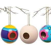 Baker Ross Maison Ronde pour Oiseau en céramique (Lot de 2) - Loisirs créatifs de Printemps pour Enfants