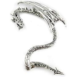 serebra Jewelry Crystal Dragón abrazadera de oído Anillo Pendientes de aleación de alta calidad