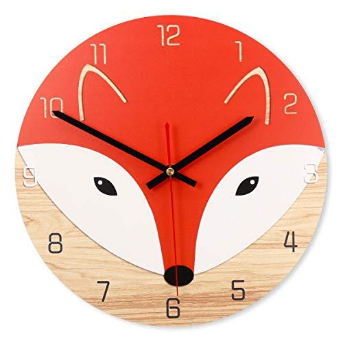 RanDal 28Cm Animal Mute Round Wall Clock Modern Home Living Room Kitchen Watch Decor - Pro