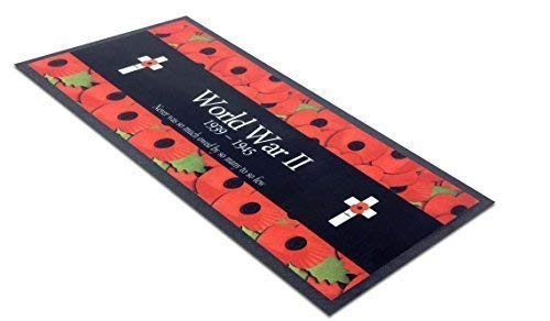L&S PRINTS FOAM DESIGNS Poppy 's World War 2 Design Bar Runner ideal für zuhause Bar Shop Cocktail Party Werbung Werkzeug Bar Matte