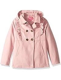 Pink Platinum Niñas Ruffles Wool Jacket Abrigo de Mezcla de Lana