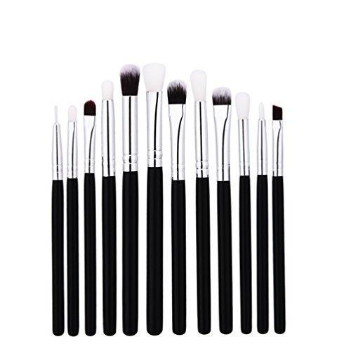Fashion Base® professionnel 12 pcs/lot Pro Lot de pinceaux de maquillage Fond de teint poudre Fard à paupières Eyeliner Lip Brosse Ombre à paupières outils Brosse de Surligneur Pinceaux