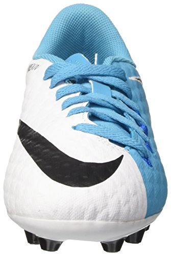 Nike Jr Hypervenomx Phelon 3 Ag-Pro, Scarpe da Calcio Unisex – Bambini Bianco (White/Black/Photo Blue/Chlorine Blue)