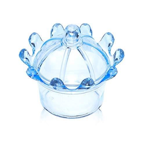 12 Pcs/Set Plastic Crown Candy Box Wedding Chocolate Cookie Present Holder Kitchen Storage Container - Blue
