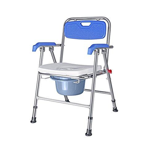 Freier Zusammenbau-Aufzug-Stuhl, beweglicher Bad-Sitz, justierbare Dusche-Bank, weißer Badewanne-Aufzug-Stuhl mit den Arm-faltenden Nachttisch-Toilettensitz mit Kommode-Eimer und Spritzen-Schutz -