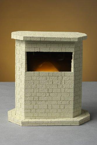 euchte Dekorationsleuchte Kamin weiß Halogen Dekolampe mit Feuer - Effekt (Beleuchtete Fensterdekoration Für Halloween)