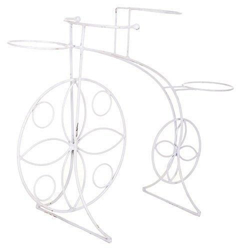 Bananatree Metal Cycle Shape Grass Ball Holder (75 cm x 24 cm x50 cm, White)