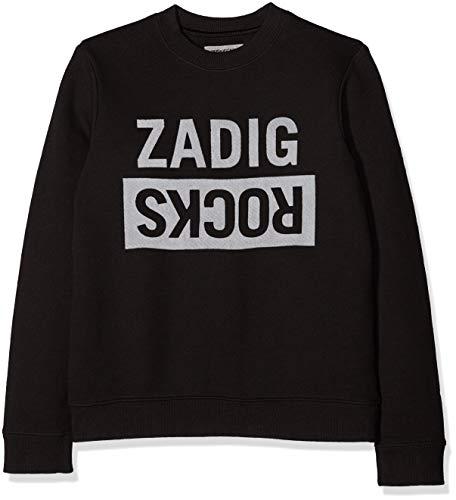 ZADIG&VOLTAIRE Sweat-Shirt Garçon, Noir (Black 09b), Taille Fabricant: 05A