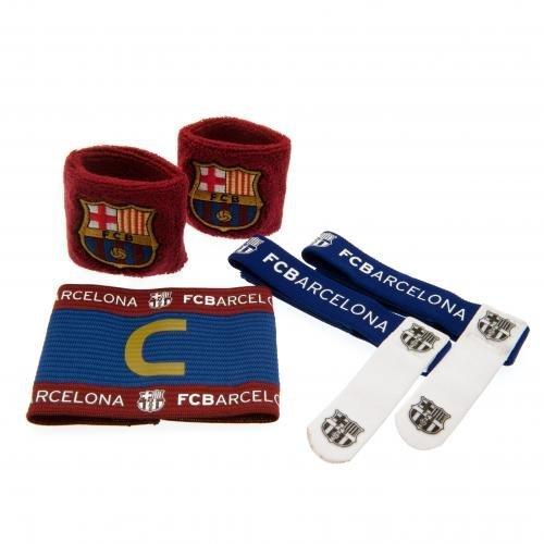 Kit de accesorios. 2 muñequeras. 1 banda de capitán. 2 bandas para calcetín. Producto oficial.