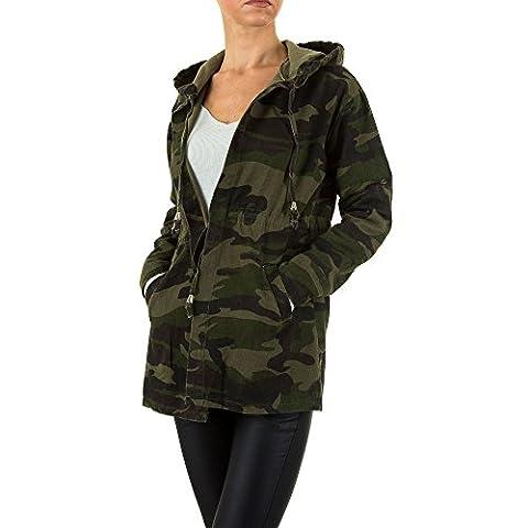 Camouflage Kapuzen Jacke Für Damen , Grün In Gr. M bei Ital-Design