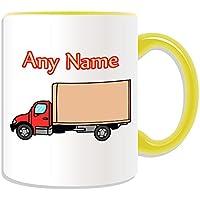 Regalo personalizzato–rosso camion tazza, motivo: trasporti, vari colori disponibili, qualsiasi