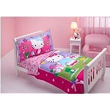 Hello Kitty 4en 1Junior juego de cama spring, acolchado colcha cubierta con juego Hoja 3pc Set