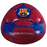 F.C. Barcelona Inflatable Chair- football design inflatable chair- with two drinks holders- approx 80cm x 80cm x 60cm- in a card display- official licensed product