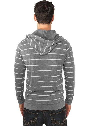 Striped Burnout Hoody darkgrey-white