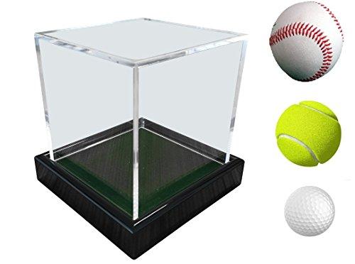 Universal Acryl Vitrine 10x10x10cm / showcase / display case / Schaukasten mit grünen Samt z.B. für Tennisball, Baseball, Golfball, Figuren, Modelle, Uhren etc. - 3