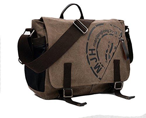 E-Bestar Herren Canvas Handtasche Canvas Tasche Herren Umhängetasche Herren Schultertasche Vintage Herren Aktentasche Handgepäck (kaffee) kaffee