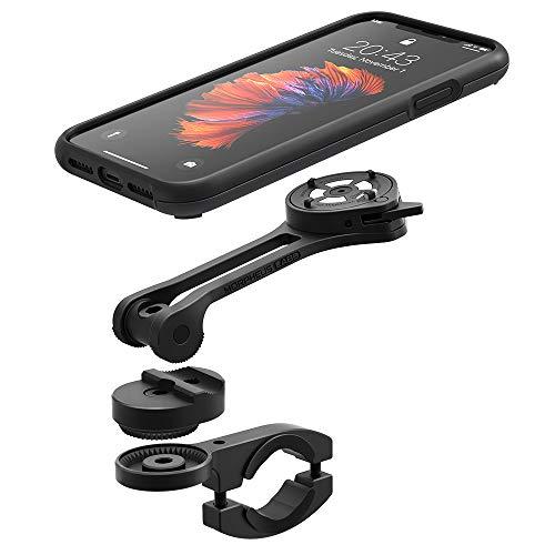 Morpheus M4s Flex Kit iPhone XS Max, Fahrrad- Motorrad- Halterung & Hülle, Full-Metal Mount & Case (XS Max schwarz)