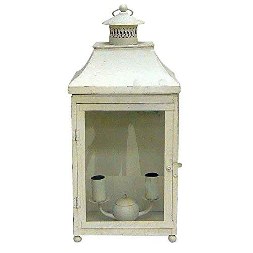 Better & Best 1692032 - Lanterne de Mur avec deux lumières, droite, blanc