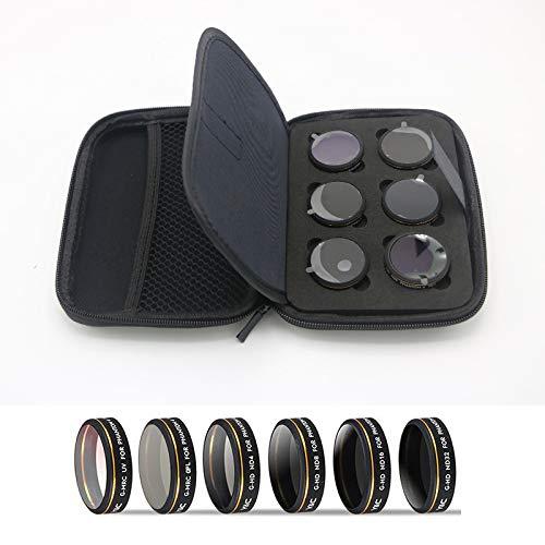 Hura Lot de 6 filtres pour appareil photo YC UV/CPL/ND4/8/16/32 avec objectif HD dégradé pour DJI Phantom 4 Pro Drone Quadcopter Accessoires – 1 pièce
