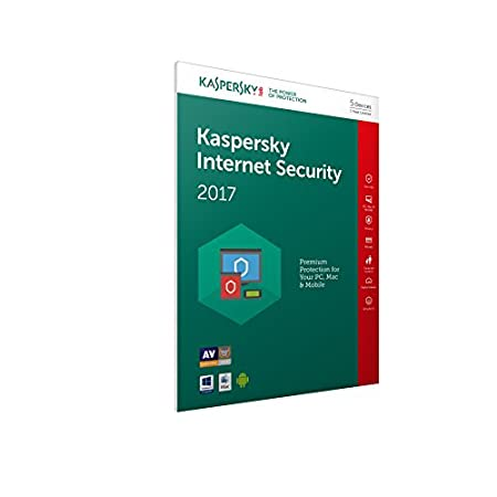 Kaspersky Internet Security 2017 (5 Devices, 1 Year) FFP (PC/Mac/Android)