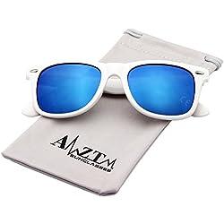 AMZTM Klassisch Platz Retro Verspiegelt Linse Polarisiert Designer Wayfarer Damen Herren Sonnenbrille