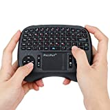 AHECE Mini Handheld Tastatur Wireless Keyboard USB QWERTZ Tastatur kabellos mit Touchpad-Maus geeignet für Smart TV, Android TV Box, PC, IPTV, Tablets usw - Schwarz (Deutschem Layout)