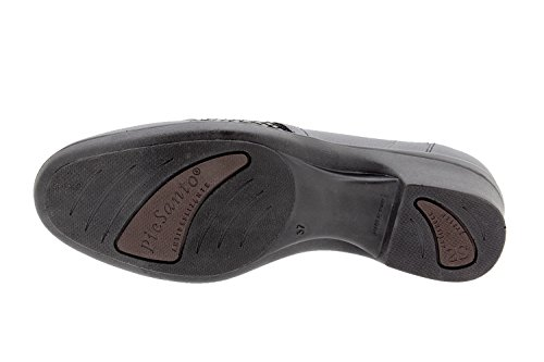 Chaussure femme confort en cuir Piesanto 9614 casual confortables amples Brasil Negro