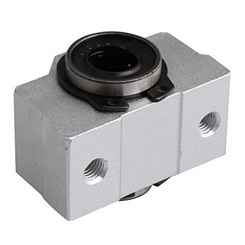 Preisvergleich Produktbild Yibuy Kurz Typ Linear Motion Kugellager Block Kabeldurchlass für 8mm Schaft sc8V